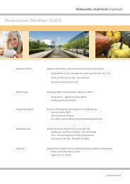 Newsletter Oktober 2009 - Donaukurier