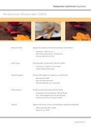 Newsletter November 2009 - Donaukurier