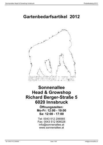 Gartenbedarfsartikel 2012 Sonnenallee Head & Growshop Richard ...