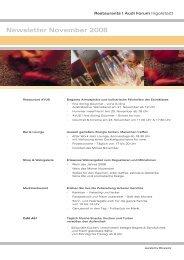 Newsletter November 2008 - Donaukurier