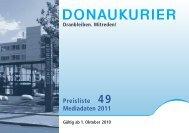 Preisliste 49 Mediadaten 2011 - Donaukurier