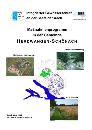 Herdwangen-Schönach - Aktionsprogramm Seefelder Aach