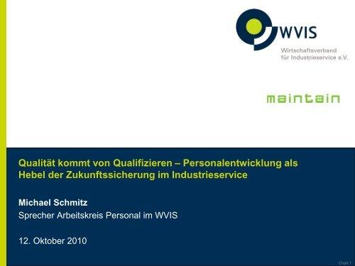 Qualität kommt von Qualifizieren - Personalentwicklung als ... - WVIS