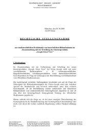 Rechtliche Stellungnahme - 29.10.2009 - Donaukurier