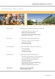 Newsletter März 2010 - Donaukurier