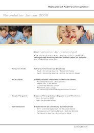 Newsletter Januar 2009 Kulinarischer Jahreswechsel - Donaukurier