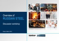 Steel production - Roland Berger Strategy Consultants