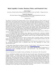 Bank Liquidity Creation, Monetary Policy, and Financial Crises - MIT