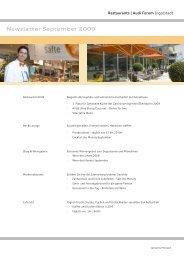 Newsletter September 2009 - Donaukurier