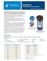 Ultrair M/S Coalescing Filter Element (Data Sheet - Donaldson ...