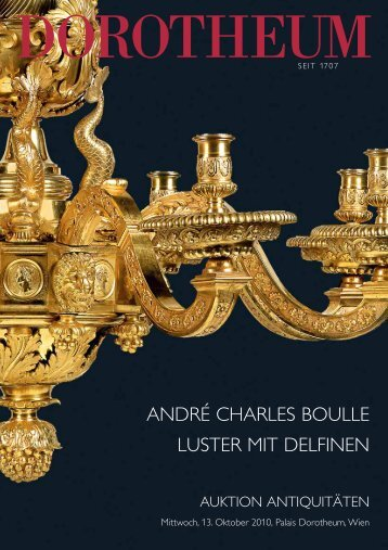 ANDRÉ CHARLES BOULLE LUSTER MIT DELFINEN - Dorotheum