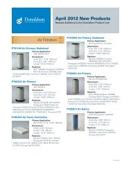 April 2012 New Products - Donaldson Company, Inc.