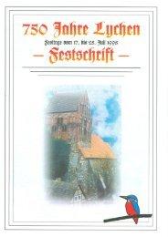 Festschrift zur 750 Jahrfeier Lychens - 1998 (3,2MB