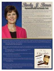 Inspirational Speaker - Becky J. Benes