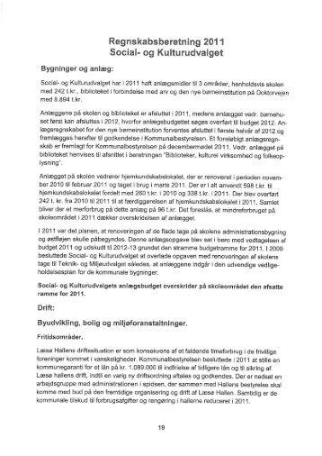 egnskabsberetning 201 1 Social- og Kulturudvalget - Læsø Kommune