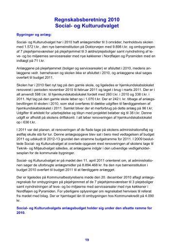 Regnskabsberetning 2010 Social- og ... - Læsø Kommune