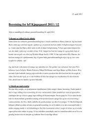 Beretning for b/f Kjøgegaard 2011 / 12 - Hjem