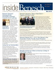 Inside Benesch Newsletter