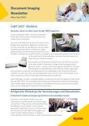 Document Imaging Newsletter - DOS Dokumenten Systeme GmbH