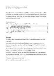 eMail: Archivieren, Beweissichern, Filtern - Dr. Ivo Geis