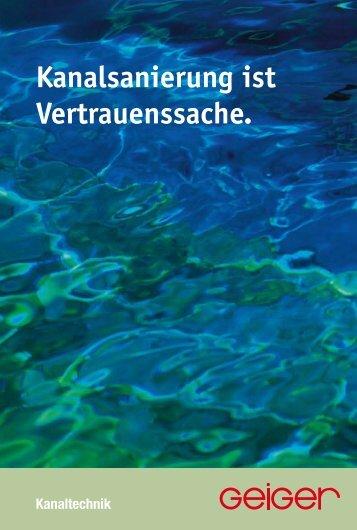 "Broschüre ""Kanaltechnik"" ( pdf | 4,1 MB) - Geiger"