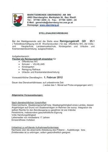 Tel.: 07758 I 2255 - 0, Fax.: 0775812255 - 24 - Obernberg am Inn