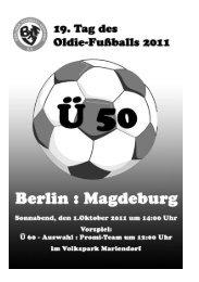 Programm Fußball