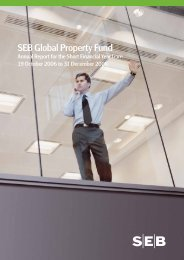 annual report 31 Dec 2006 - SEB Asset Management
