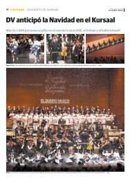 DV anticipó la Navidad en el Kursaal Más de 1.800 personas ...