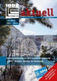 """""""1892""""- Riestern punktet im Finanztest 15 120 Jahre 1892 – 2012"""