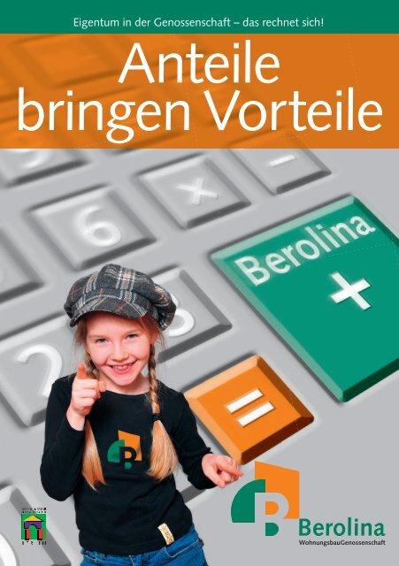 Mit weiteren Genossen- schafts anteilen - BEROLINA