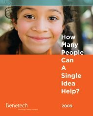 How Many People Can A Single Idea Help? - Benetech