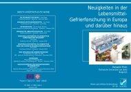 Neuigkeiten in der Lebensmittel- Gefrierforschung in Europa und ...