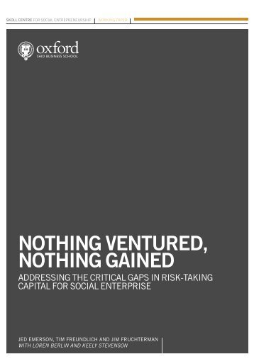 Nothing Ventured, Nothing Gained: Addressing the - Benetech