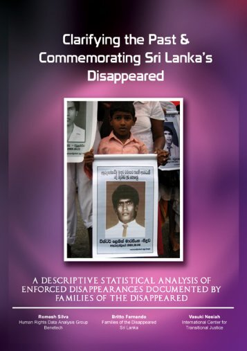 Clarifying the Past and Commemorating Sri Lanka's Disappeared
