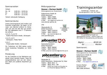 Trainingscenter - Donner + Partner