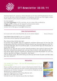 Mit der EFT-Klopfakupressur zu neuer Lebensqualität - Horst Benesch