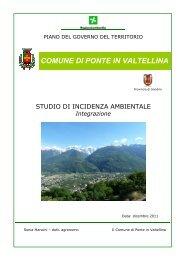 Integrazione - Comune di Ponte in Valtellina