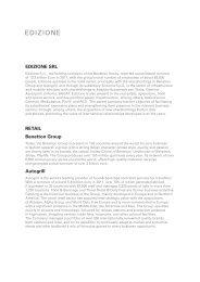 EDIZIONE SRL RETAIL Benetton Group Autogrill