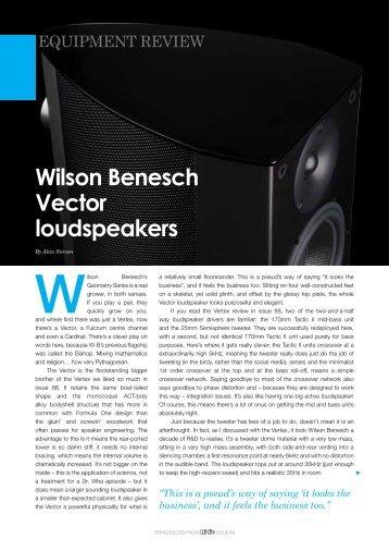 Wilson Benesch Vector loudspeakers