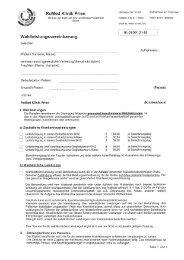 Wahlleistungsvereinbarung - RoMed Kliniken
