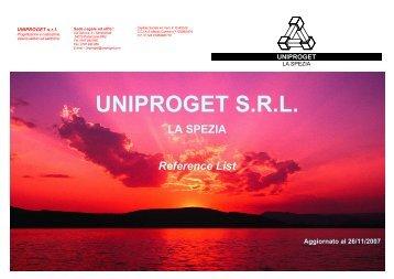 UNIPROGET SRL LA SPEZIA Reference List