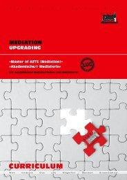 upgrade master of arts – ma (mediation) - ARGE ...