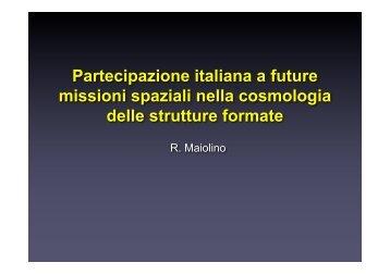 Partecipazione italiana a future missioni spaziali nella ... - Asi