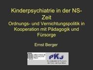 Kinderpsychiatrie in der NS-Zeit Ordnungs- und Vernichtungspolitik ...