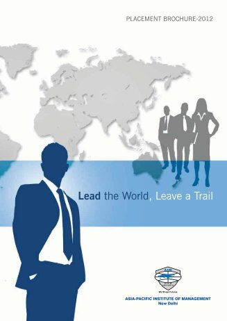 Placement Brochure - Asia Pacific Institute of Management