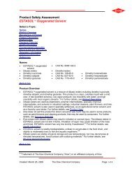Product Safety Assessment ESTASOL™ Oxygenated Solvent