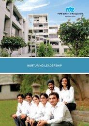 NURTURING LEADERSHIP - FORE School of Management