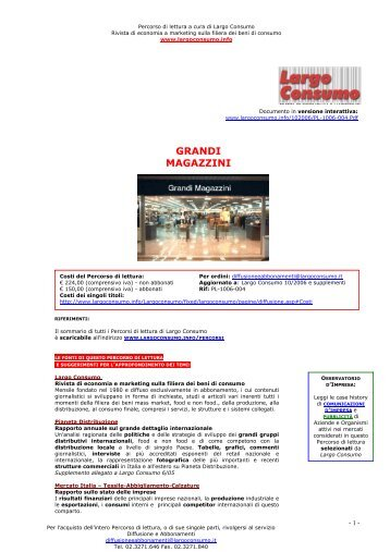 Grandi magazzini - Department Store Market in ... - Largo Consumo