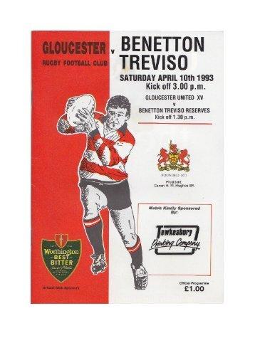 Gloucester v. Benetton Treviso - Gloucester Rugby Heritage